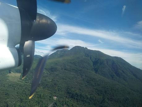 Mt. Hibok-hibok from the air