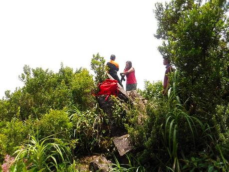 Rocky summit of Mt. Hibok-hibok