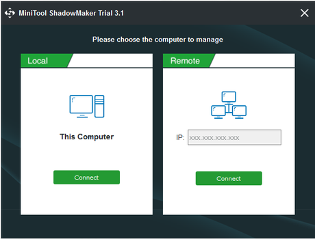 MiniTool ShadowMaker to Create a System Image