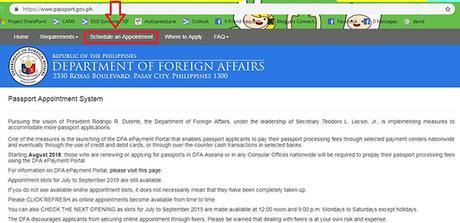 Passport PH site