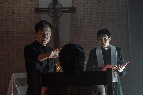 Ahn Sung-ki and Parasite's Choi Woo-sik in The Divine Fury