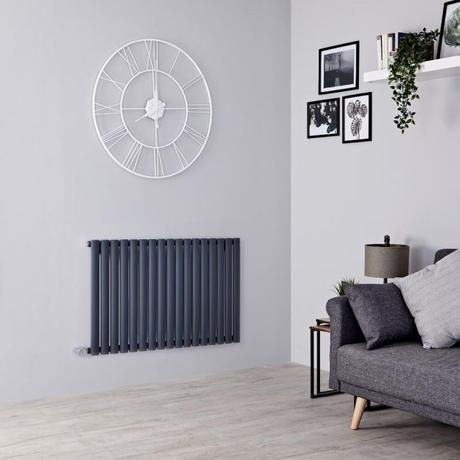 Milano Aruba electric radiartor on a gray wall