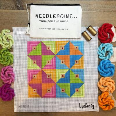 EyeCandy 13 Count Geometrics Available Now at Stitches By The Sea!