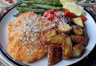 Crispy Sheet Pan Chicken Milanese