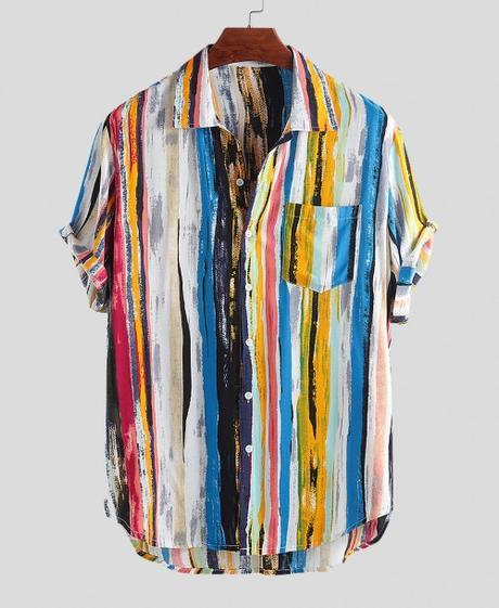 Multi Color GraffitiHawaiian Shirts $16.99