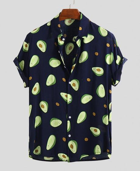 Funny Avocado PrintedHawaiian Shirts