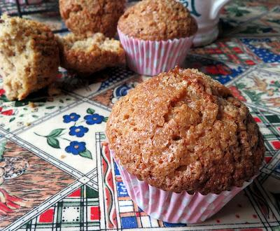 Crunchy Topped Maple Walnut Oatmeal Muffins