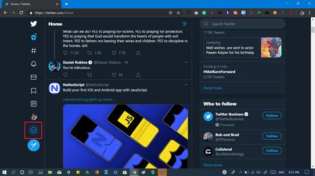 Logout from twitter 2019 design