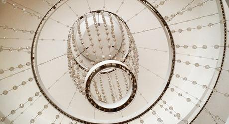 Chandelier in the lounge