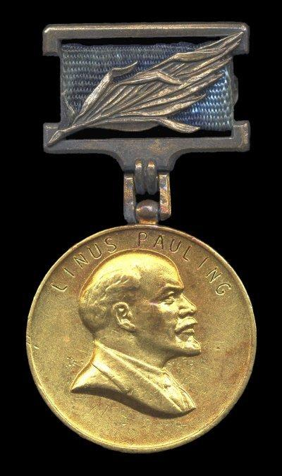 Pauling's Receipt of the Lenin Peace Prize