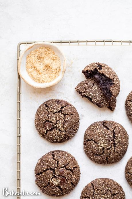 You'll want to make a double batch of these Gluten-Free Vegan Chocolate Crinkle Cookies - one for you, and one to share! These paleo-friendly cookies are perfect for lunchboxes, the holidays, or even a weeknight dessert - thankfully, they come together quickly!