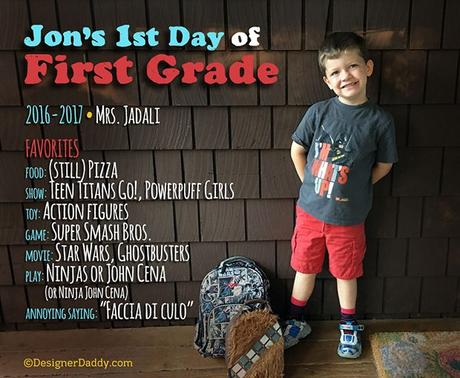 First Day of School: Fourth Grade!