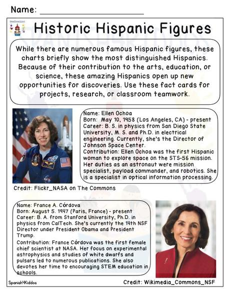 Hispanic Heritage Lesson Plan for Bilingual Classrooms