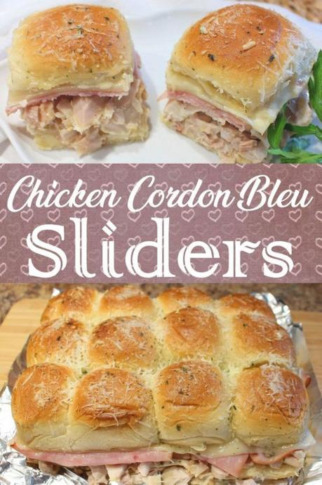 Chicken Cordon Bleu Sliders