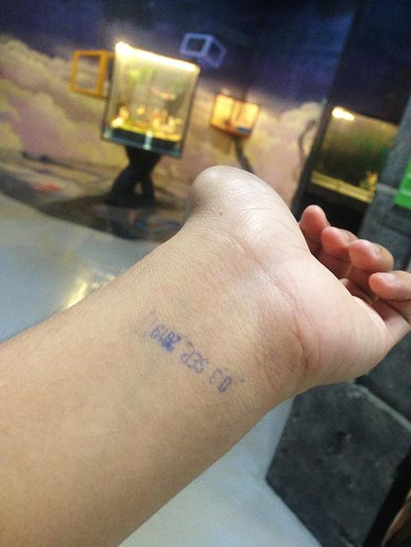Black light stamp