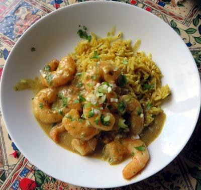 Curry Coconut King Prawns