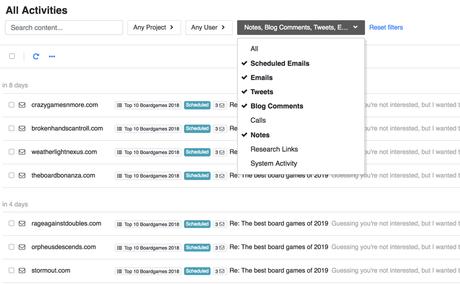 Buzzstream scheduled Tasks