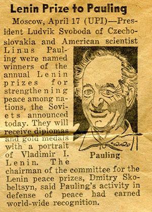 The Lenin Peace Prize: Aftermath