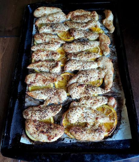 sheet pan mango habanero chicken tenders