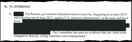 Even key findings at the beginning of the report were heavily redacted.