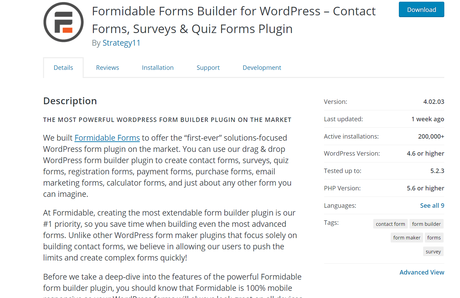 formidable forms lite