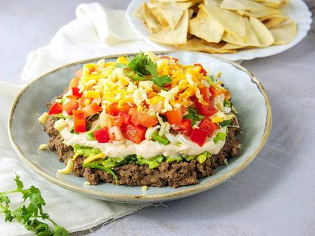 Guilt-Free, Healthy Seven Layer Bean Dip