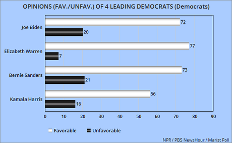The Public's Opinion Of The Four Leading Democrats