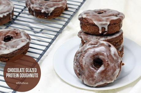 Chocolate Glazed Protein Doughnuts (gluten free & dairy free)