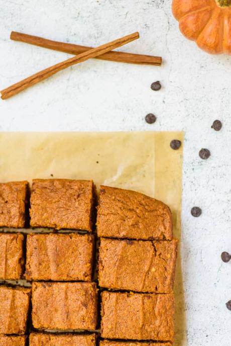 Healthy Layered Pumpkin Brownies