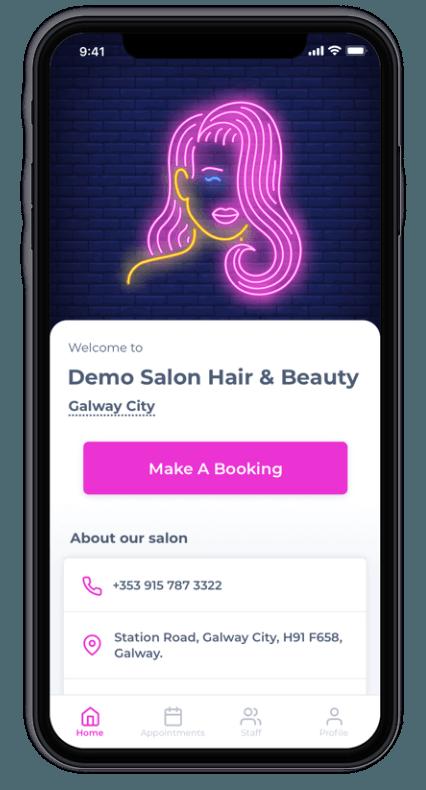 Salon Branded Apps - Prototype IE
