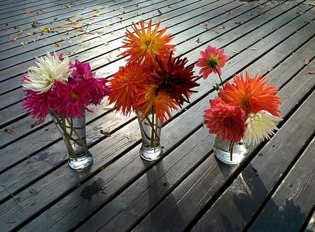 Fall party décor and floral arrangements