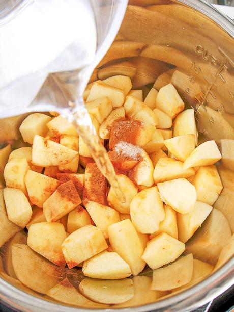 Instant Pot Applesauce with Cinnamon and Honey