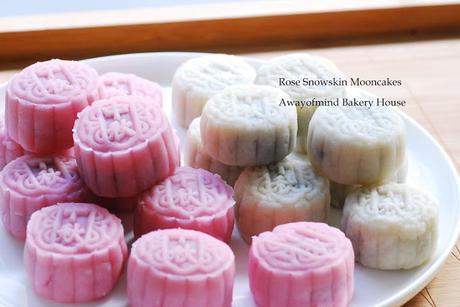 Rose Snowskin Mooncakes 玫瑰露冰皮月饼