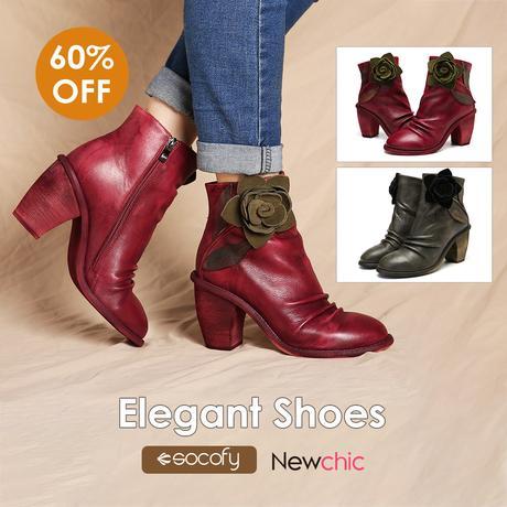 Socofy Women High Heel Boots