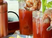 England Bloody Mary with Shrimp Cocktail