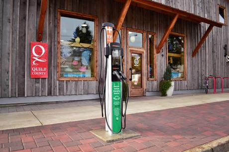 Electric Vehicle Charging Station Plugs in at Softstar