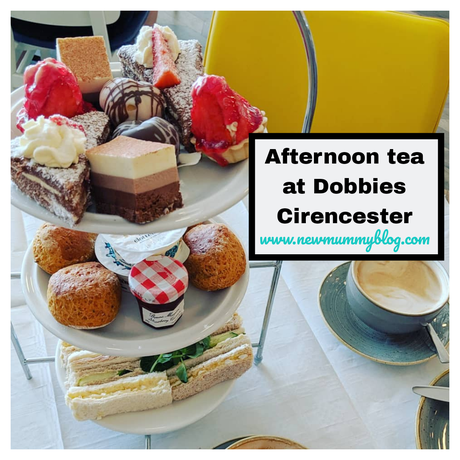 Afternoon tea at Dobbies Cirencester, Gloucestershire