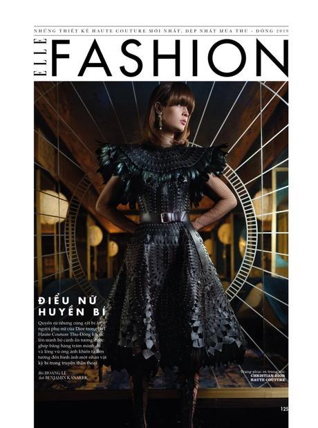 """Illusion"" Haute Couture with Daniela Didenko by Benjamin Kanarek for ELLE"