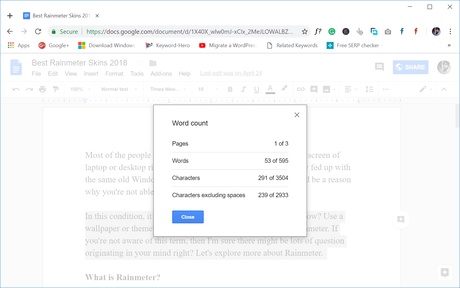 How to Check Word Count on Google Docs – 2019 (Updated Word Counter)