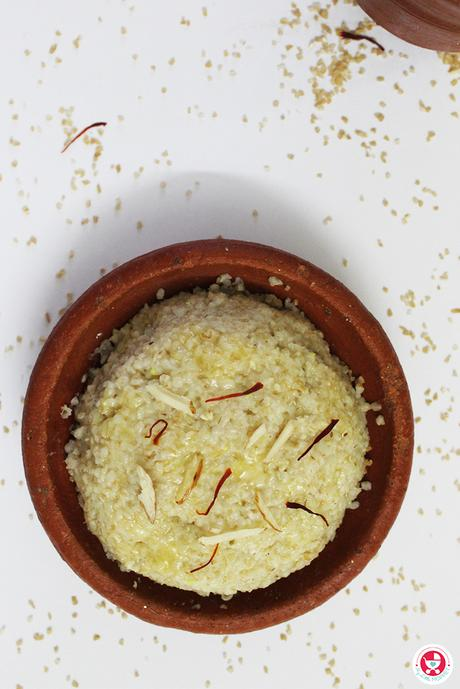 Broken Wheat Apple Halwa for Babies
