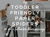 Toddler Friendly Paper Spiders Halloween