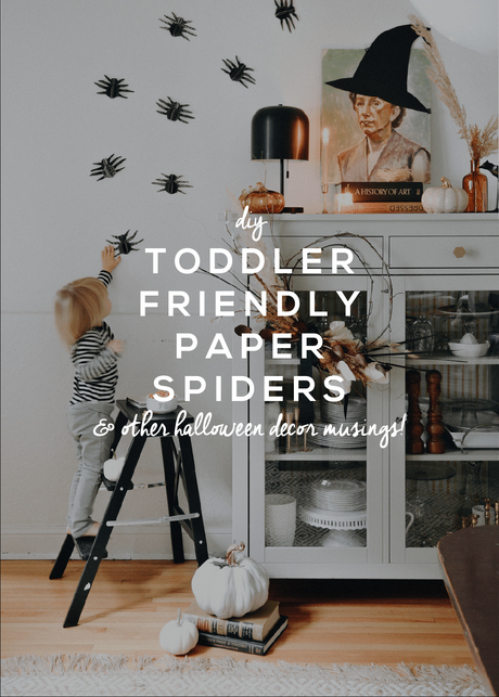 Toddler Friendly 3D Paper Spiders for Halloween