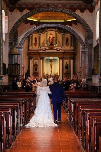 catholic wedding songs newlyweds at the church