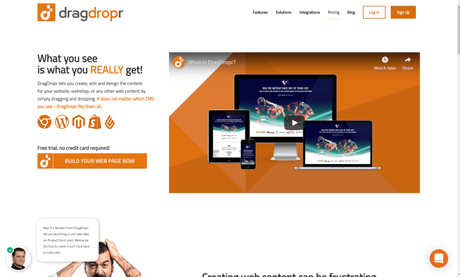 DragDropr Review 2019: Is It The Best Page Builder For CMS?