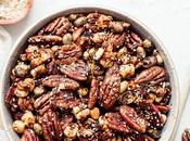 Sesame Tamari Pecan Snack (Gluten Free Vegan)