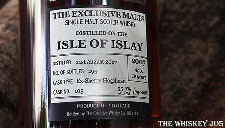 Exclusive Malts Isle of Islay 10 Label