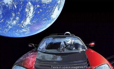 Tesla-in-space