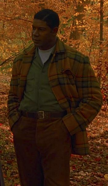 Dennis Haysbert's Yellow Plaid Coat in Far From Heaven