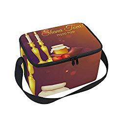 Image: Day Of Atonement Yom Kippur Shanah Tovah Large Capacity Insulated Lunch Tote Bag Portable Travel Picnic School Handbag Cooler Warm Lunchbox for Kids Girls Teen Women Men Office Worker