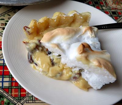 Raisin & Sour Cream Meringue Pie